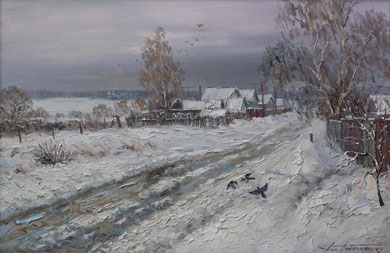 """Оттепель"" Х.,м. 60х90 2015 г."