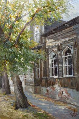 """Старый дом""   х/м  60х40  2012г."
