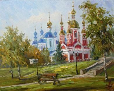 """57  """"Набережная Тамбов"""" х/м  40х50   2012г."""