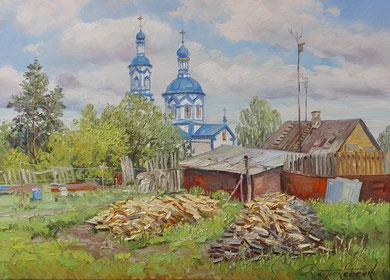 """""""Царёвский дворик""""  Х.,м. 65х90  2017г."""