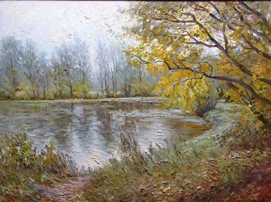 """""""Осень в парке"""" х/м  60х80  2012г."""