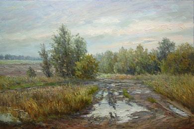 """216  """"Осенняя распутица""""   Х.,м.  60х90  2013 г."""