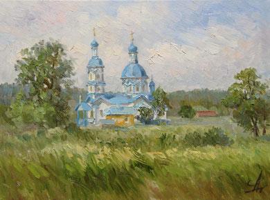 """""""Царёвка""""  Этюд. Х.,м. 30х40  2012 г."""