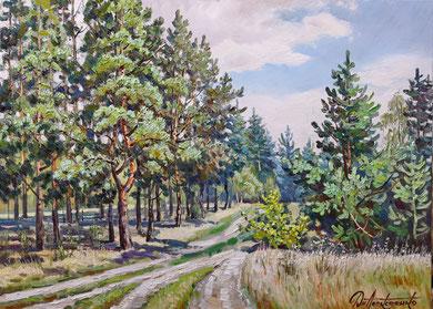 """Сосновый лес"" Х.,м. 65х90 2019г."