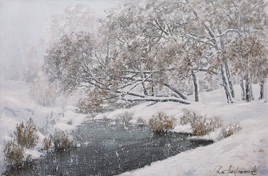 """""""Снегопад"""" Х.,м. 60х90 2016 г."""