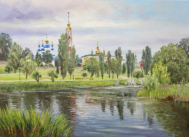 """Вид на Набережную Тамбова"" Х.,м. 65х90 2017г."