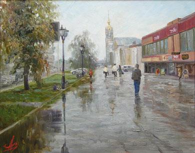 """""""После дождя""""  Х.,м.  40х50  2012г."""