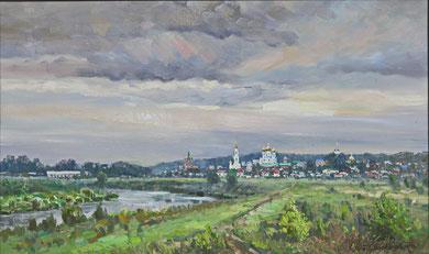 "373 ""Вид на Задонск"" Х.,м. 60Х100 2016 г."