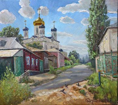 """375 """"Введенский спуск. Елец"""" Х.,м. 80х90 2016 г."""