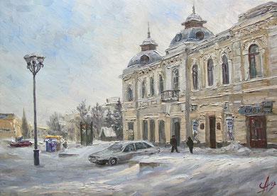 """""""Город зимой""""  Х.,м.  50х70  2012 г."""