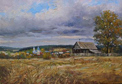 """""""Царёвка. Осень"""" Х.,м. 70х100 2015 г."""
