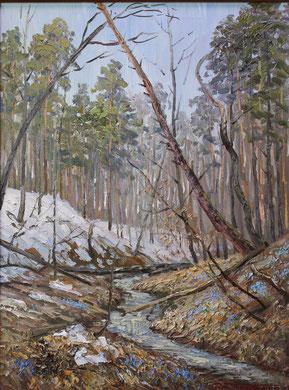 "291  ""Лесной ручей""  Х.,м. 80х60  2015 г."