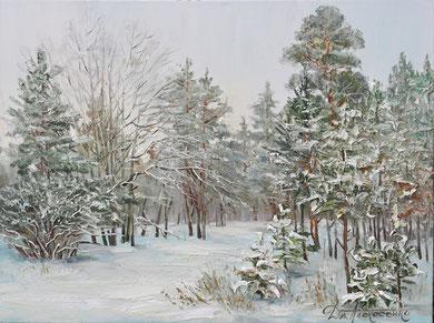 """Зимний лес"" Х.,м. 60х80 2016 г."
