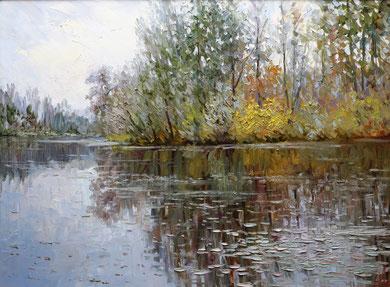 """""""В парке Дружбы"""" Х.,м.  60х80   2012 г."""