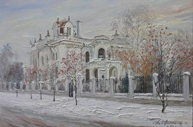 """282 """"Дом Асеева"""" Х.,м. 60х90 2015 г."""