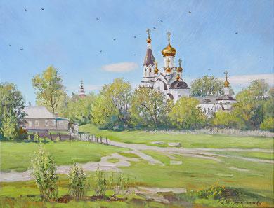 """Никольский Храм"" Х.,м. 70х90 2017г."