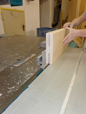 Die Teile müssen aufgetrennt werden um später die erforderliche Größe zu bekommen.