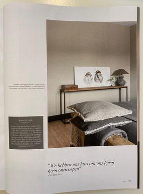 Magazines - Wonen Landelijke Stijl - Schilderij 'K heb je lief 50x100cm