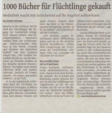 Westdeutsche Zeitung, 10. Dezember 2015