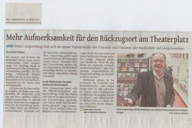 Westdeutsche Zeitung, 16. April 2015