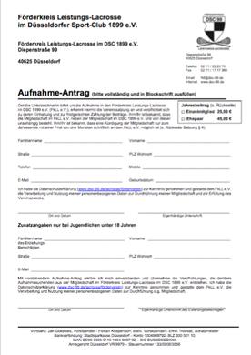 Aufnahme-Antrag Förderverein