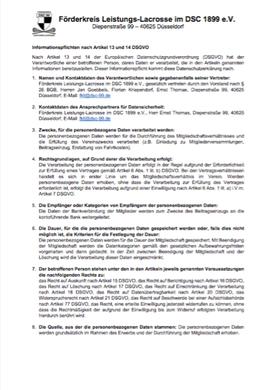 Datenschutzerklärung Förderverein