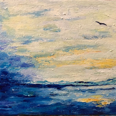"""""""Then Came the Sun""""  8x10 framed acrylic on canvas $125"""