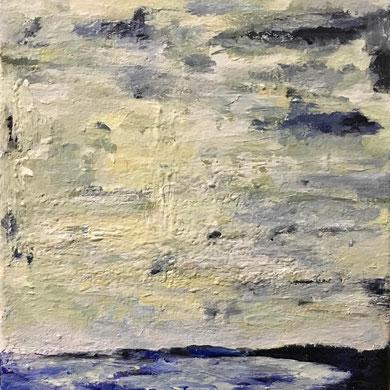 """Winter Walk on the Dyke""  8x10 framed acrylic on canvas $125"
