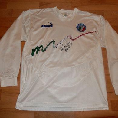 Signiert von Robert Donadoni, Carlo Ancelotti anlässlich gemeinsamem Nachtessen in Zürich (Fussball-Corner Oechslin)