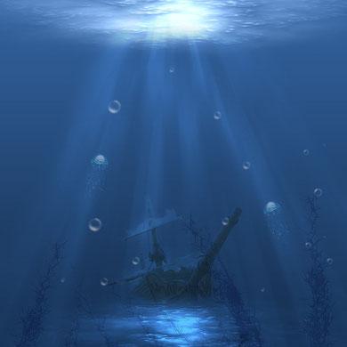 Wasserlandschaft Schiff