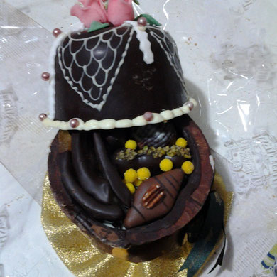 cestino di cioccolato