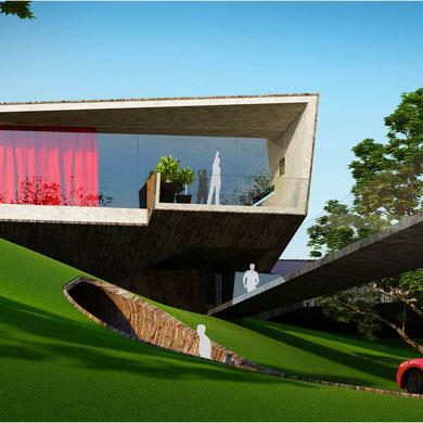 дом на холме. эскизный проект