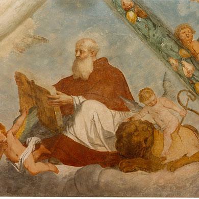 Ciclo affreschi XVII sec, Santuario Tizio di Collio (Bs)