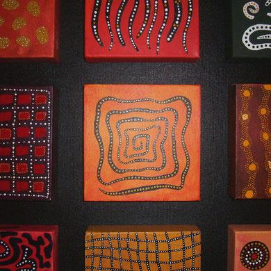 9 symbols  60 x 80 cm                                           sold