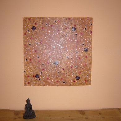 Sternenwüste 80 x 80 cm                                      sold