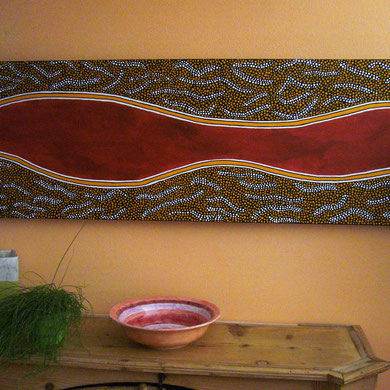 red river  40 x 120 cm                                              sold