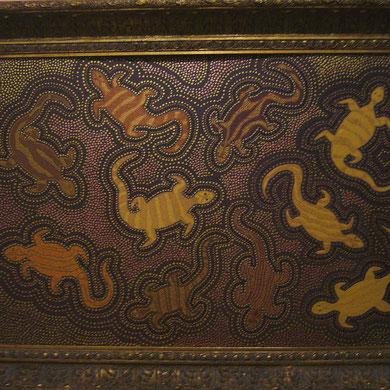 lizards  (im Barockrahmen) 60 x 80 cm