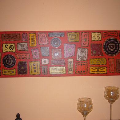 symbols  40 x 160 cm                              sold