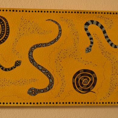 desert snakes 30 x 70 cm