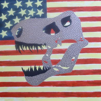 t. rex III  100 x 100 cm