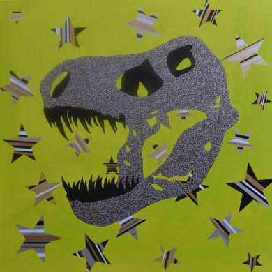 t. rex  100 x 100 cm