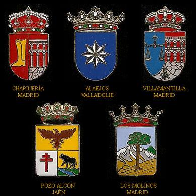 Chapinería, Alaejos, Villamantilla, Pozo Alcón y Los Molinos.