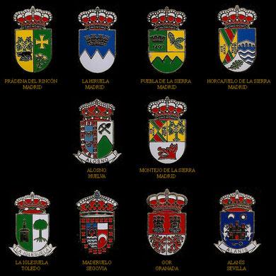 Prádena del Rincón, La Hiruela, Puebla de la Sierra, Horcajuelo de la Sierra, Alosno, Montejo de la Sierra, La Iglesuela, Maderuelo, Gor y Alanís.