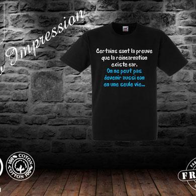 tee shirt homme réincarnation