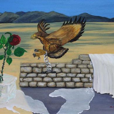 Verlorene Heimat, 60 x 80 cm, Öl auf Leinwand,