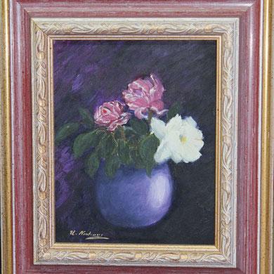 Rose 20 x 25 cm, Öl auf Leinwand,