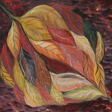 Herbst, 60 x 50 cm. Öl auf Leinwand