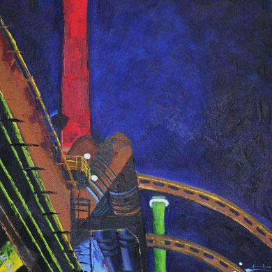 Industriekultur, 30 x 40 cm. Öl auf Leinwand