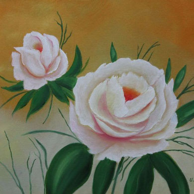 Rose, 30 x 40 cm, Öl auf Leinwand