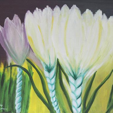 Frühling, 60 x 50 cm. Öl auf Leinwand